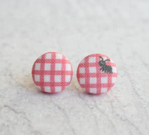 Earring Button Stud Picnic