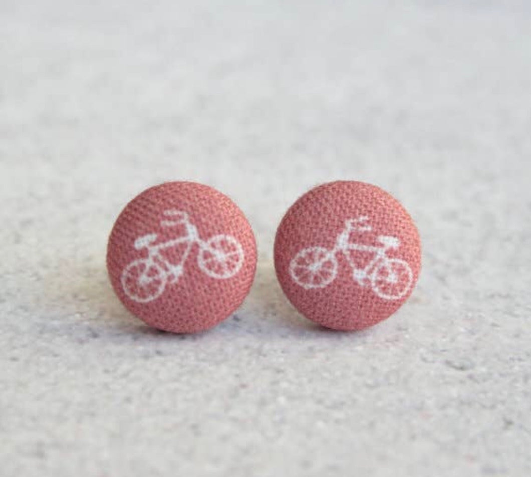 Earring Button Stud Bike
