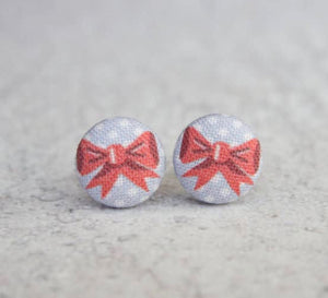 Earring Button Stud Bows