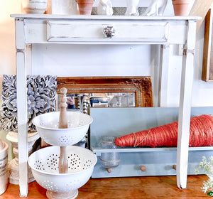 Furniture Vintage White Side Table