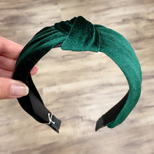 Headband Knot Velvet Deep Emerald