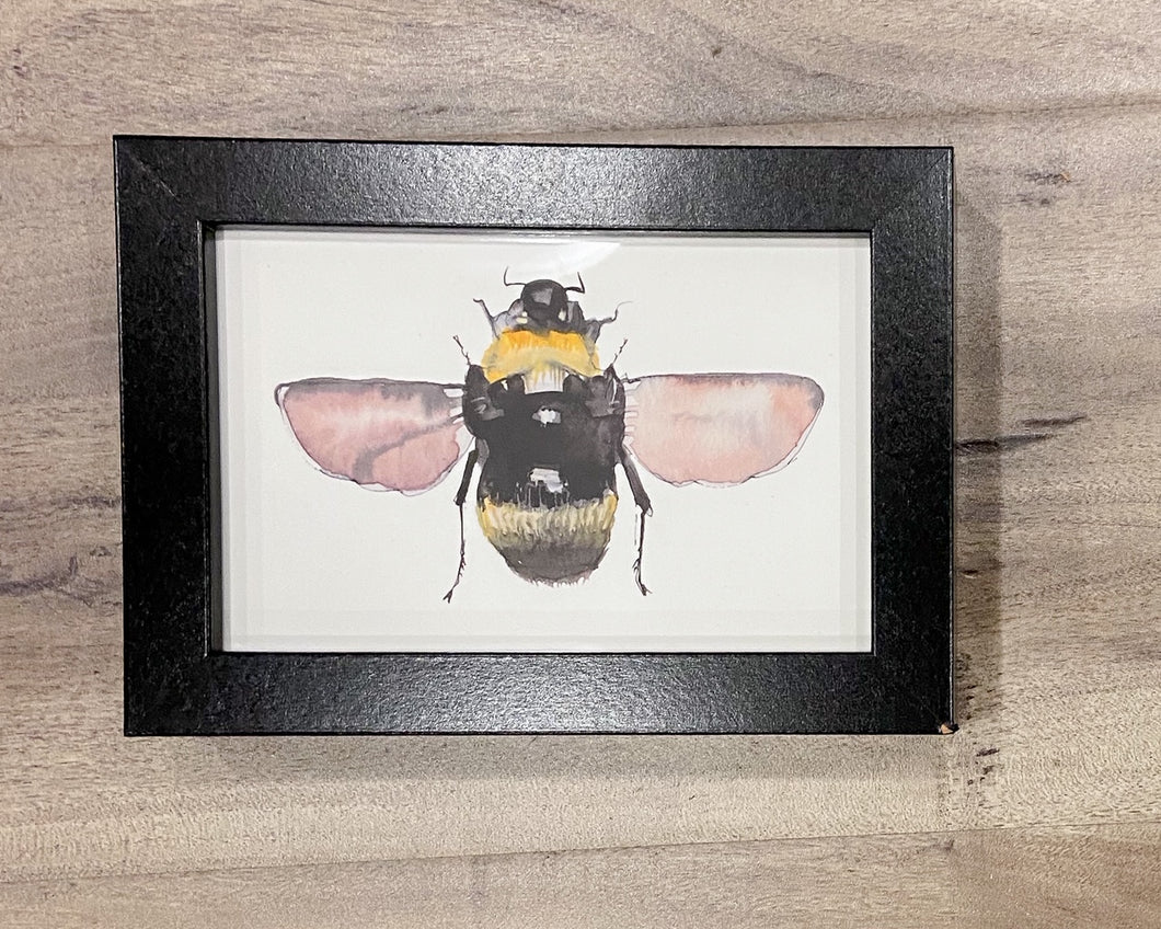 Art Honey Bee Watercolor print