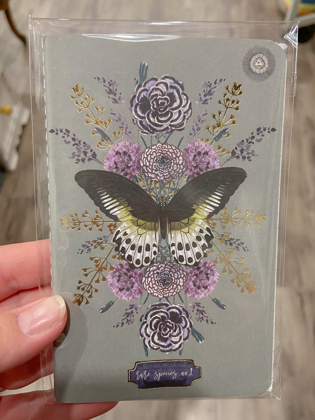Journal Mini Butterfly and Gold Foil