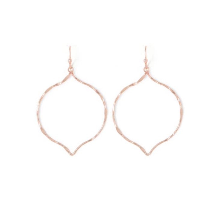Earrings Arabesque Gold Flat Hoop