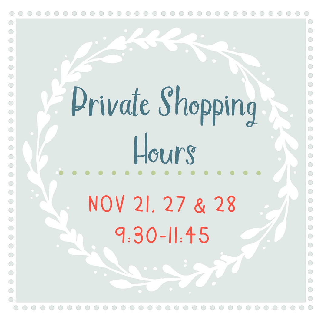 Private Shopping Hours