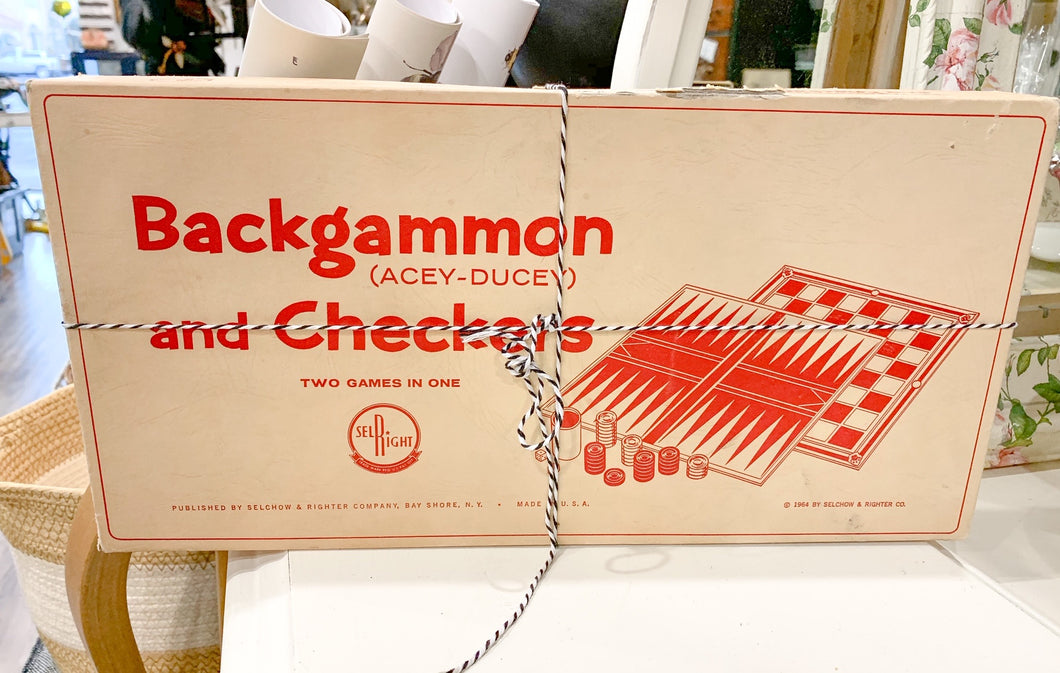 Backgammon (Acey-Duecy) and Checkers
