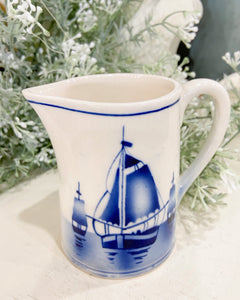Dutch Style Sailboat Pitcher