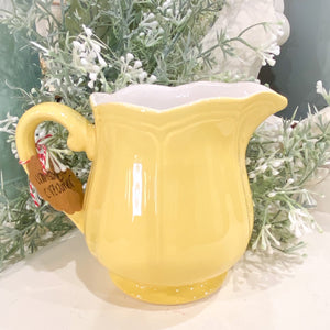 Yellow Ironstone Creamer