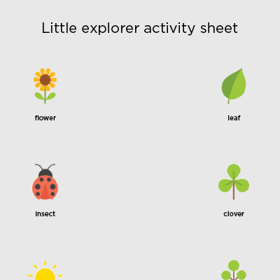 Little explorer activity sheet