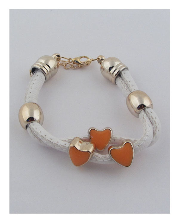 Heart bead link bracelet - The Jewelry Barn