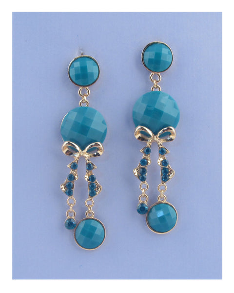 Faux stone chandelier earrings - The Jewelry Barn