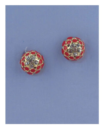 Beaded rhinestone earrings - The Jewelry Barn