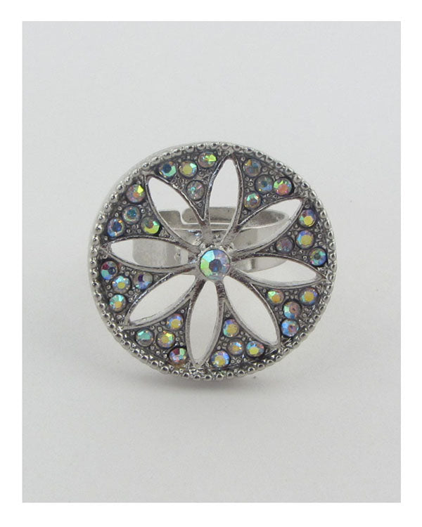 Adjustable cut out flower ring - The Jewelry Barn