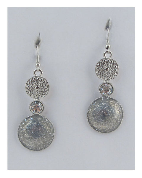 Circle drop earrings - the-jewelry-barn