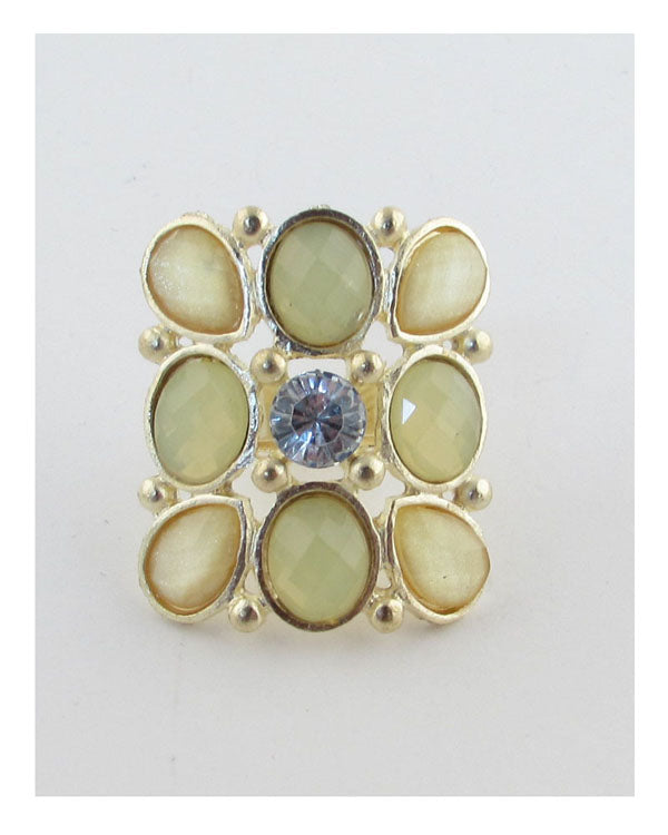 Faux stone adjustable ring - The Jewelry Barn