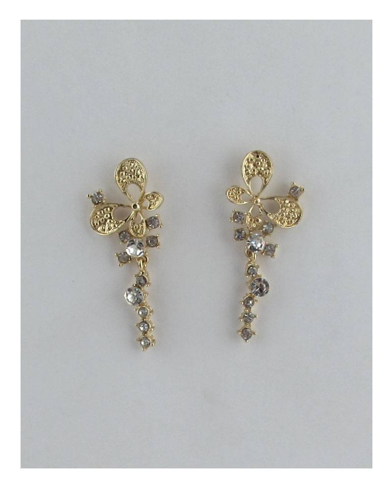 Butterfly linear stud drop earrings - the-jewelry-barn