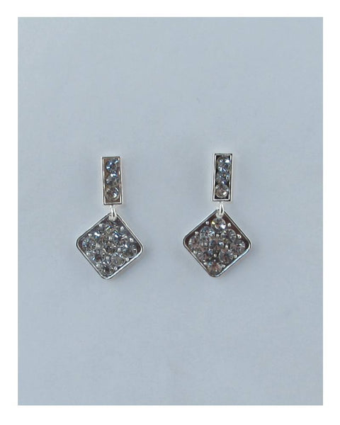 Rhinestone rhombus drop dangle earrings - the-jewelry-barn