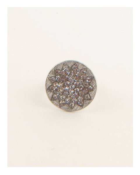 Circle w/ rhinestones adjustable ring - the-jewelry-barn