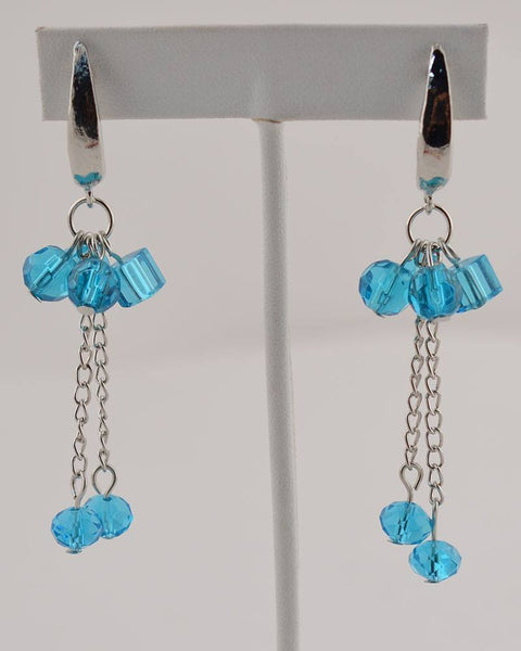 Falling Beads Chain Earrings - the-jewelry-barn