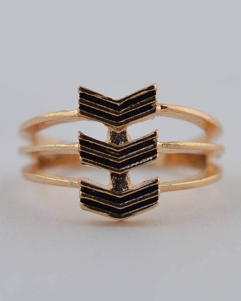 Chevron Stack Ring - The Jewelry Barn