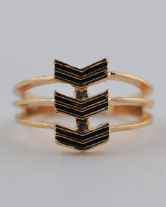 Chevron Stack Ring - the-jewelry-barn