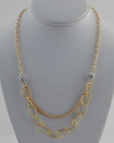 Layered link chain necklace - The Jewelry Barn
