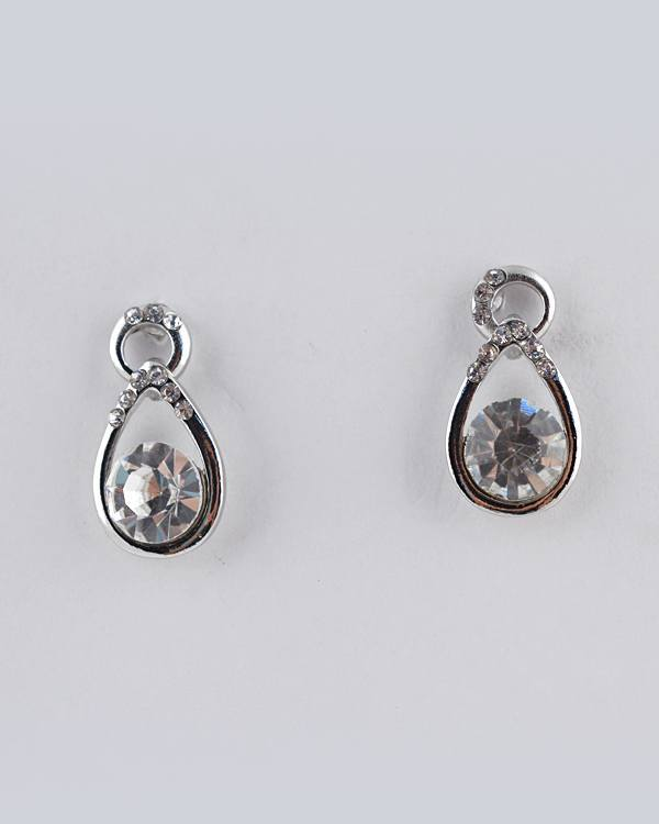 Crystal Accent Teardrop Earring - the-jewelry-barn