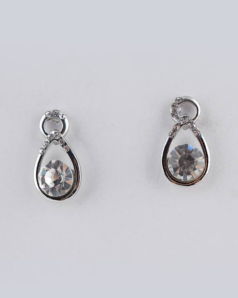 Crystal Accent Teardrop Earring - The Jewelry Barn
