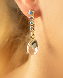 Crystal Tear Drop Earrings - The Jewelry Barn