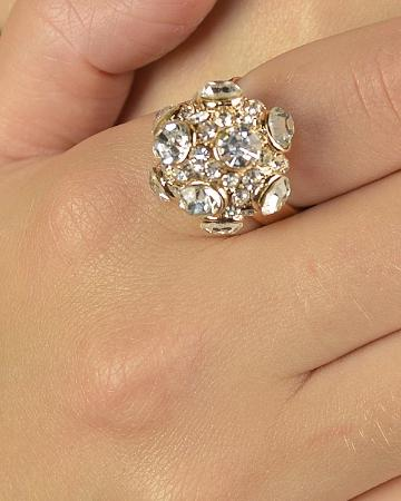 Stone Studded Round Shaped Ring - the-jewelry-barn