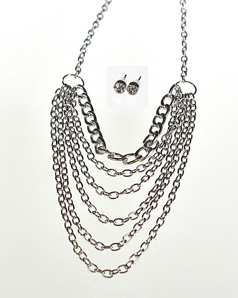 Multiple Strand Rolo Chain Necklace - The Jewelry Barn