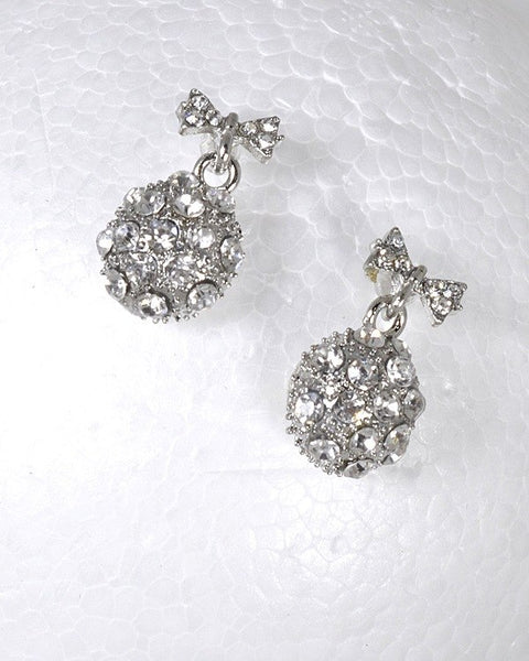 Bow Shaped Stones Studded Earrings id.31493