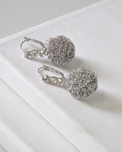 Crystal Studded Metallic Ball Drop Earrings id.31572 - the-jewelry-barn