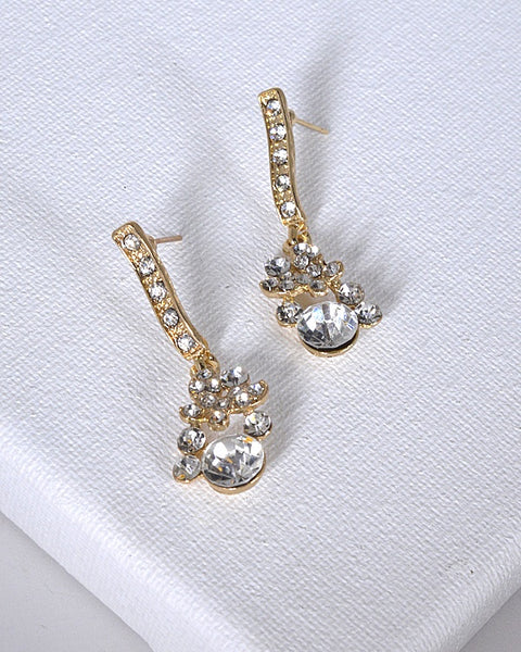 Crystal and Stone Drop Earrings - the-jewelry-barn