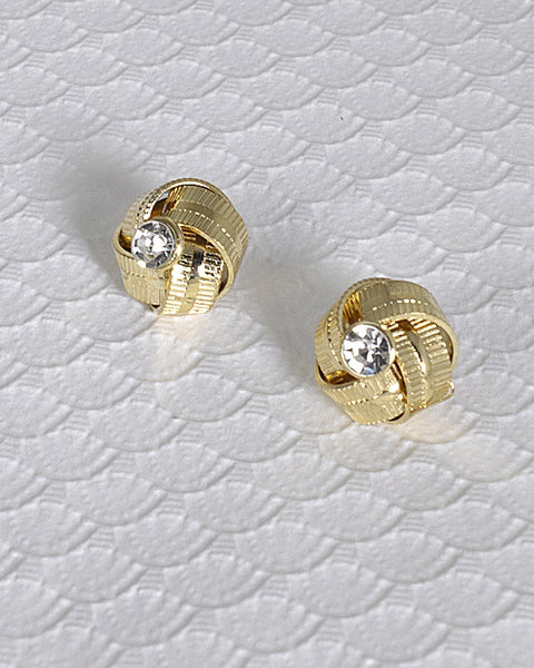 Textured Pattern Stud Earrings