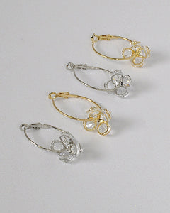 Dangler Crystal Hoops Earrings - the-jewelry-barn