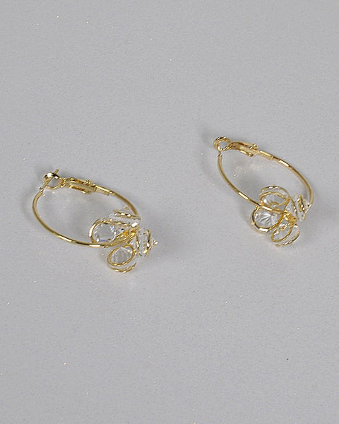 Dangler Crystal Hoops Earrings - The Jewelry Barn