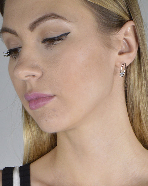 Ring Design Crystal Embellished Stud Earrings - The Jewelry Barn