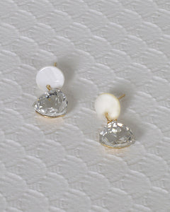 Stone and Crystal Studded Drop Earrings