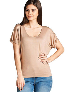 Relaxed fit round neckline top - The Jewelry Barn