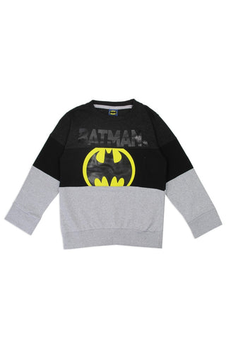 Boy's batman 4-7 color block sweatshirt - The Jewelry Barn
