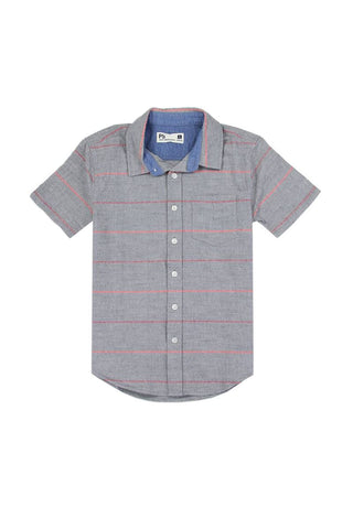 Boys aéropostale 8-14 button down shirt Grey - The Jewelry Barn