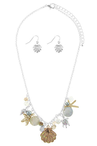 Oversize starfish station necklace set - the-jewelry-barn