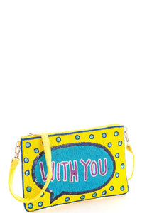 Spangle with you crossbody clutch with long strap - The Jewelry Barn