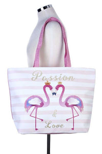 Passion & love flamingo tote bag