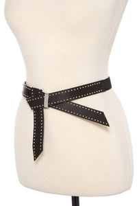 Studded faux leather stretch belt - The Jewelry Barn
