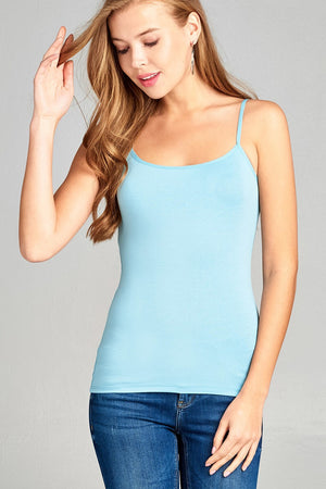 Cropped Cami Tank W/ Adjustable Spaghetti Straps - the-jewelry-barn