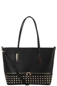 Designer Studded Tote Bag - The Jewelry Barn
