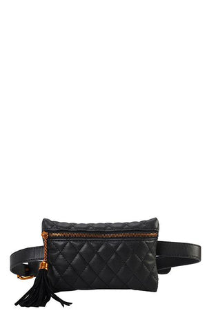 Designer Quilted Belt Fanny Bag - the-jewelry-barn