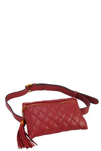 Designer Quilted Belt Fanny Bag - The Jewelry Barn